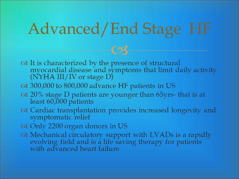 Advanced/End Stage HF