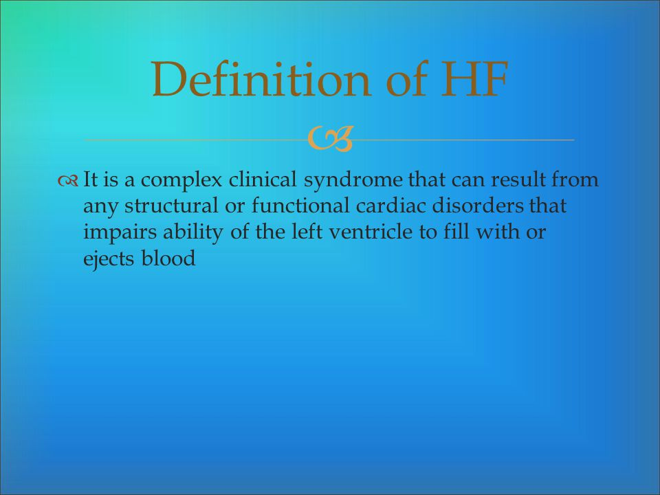 Definition of HF