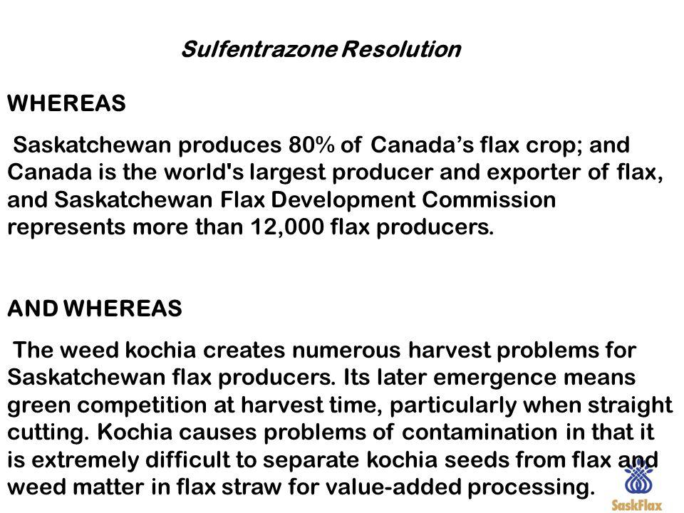 Sulfentrazone Resolution