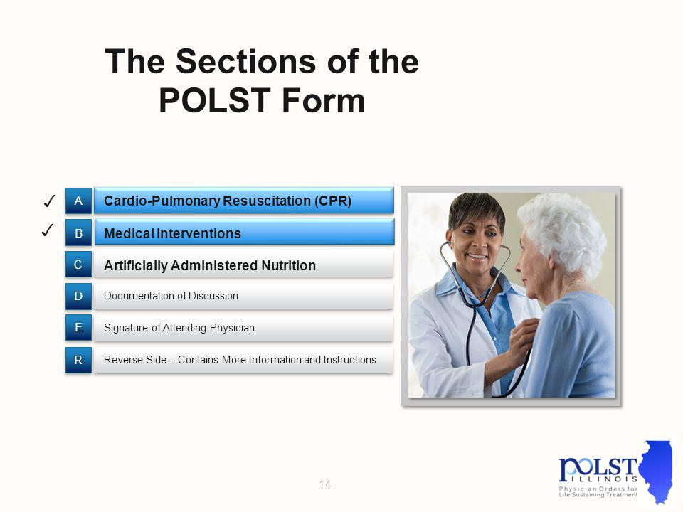 The Sections of the POLST Form