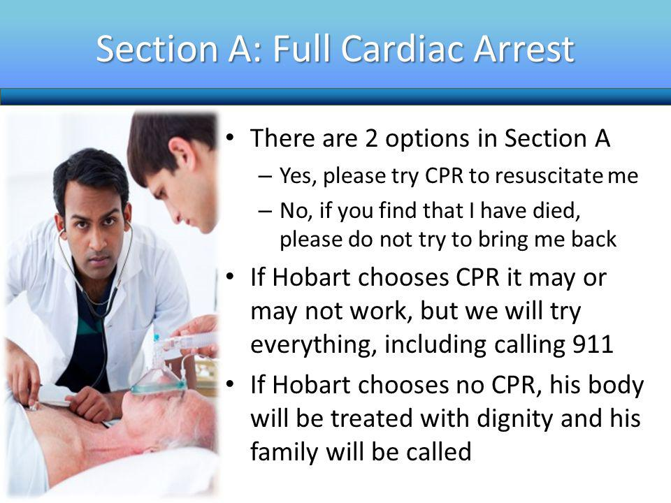 Section A: Full Cardiac Arrest