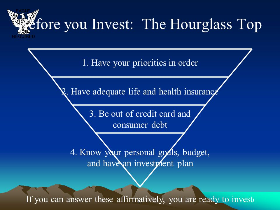 Before you Invest: The Hourglass Top