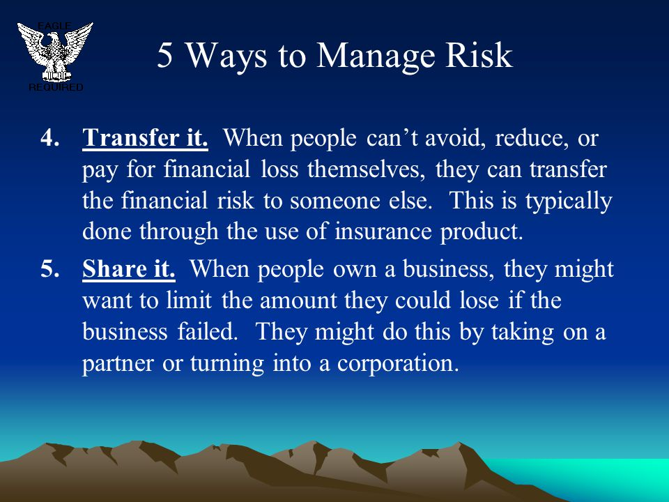 5 Ways to Manage Risk