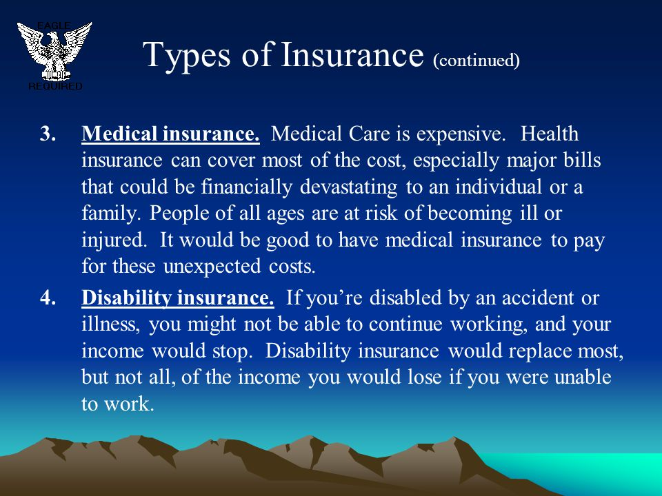 Types of Insurance (continued)