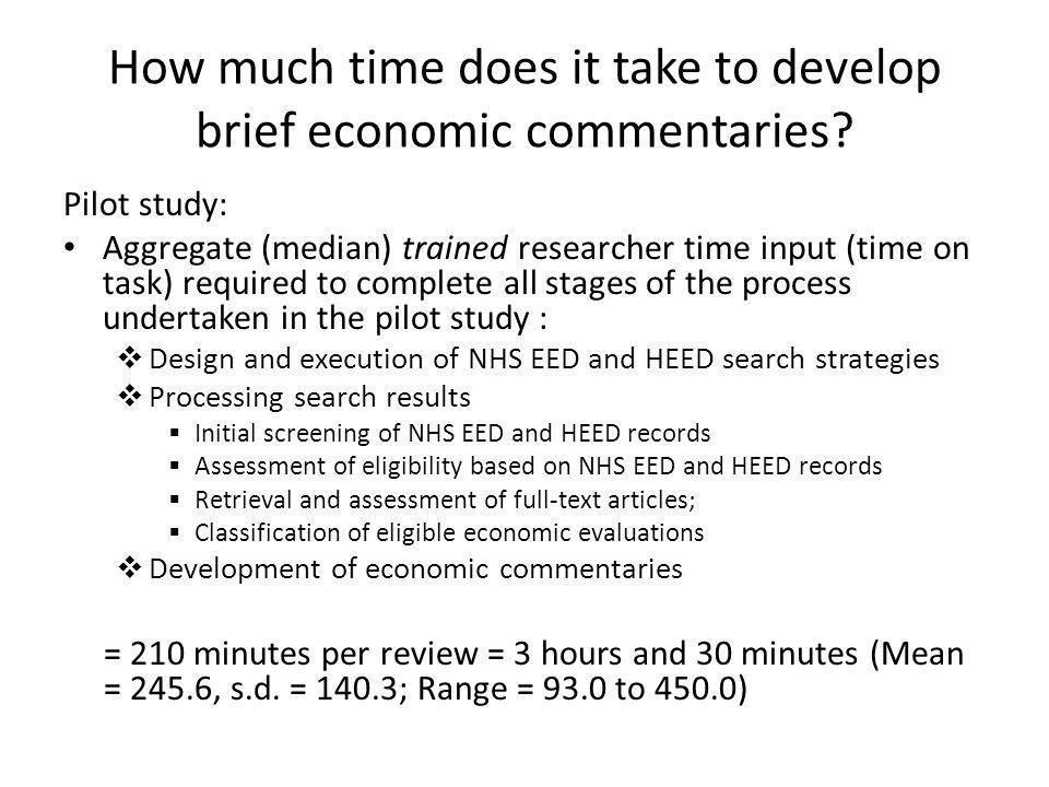 How much time does it take to develop brief economic commentaries