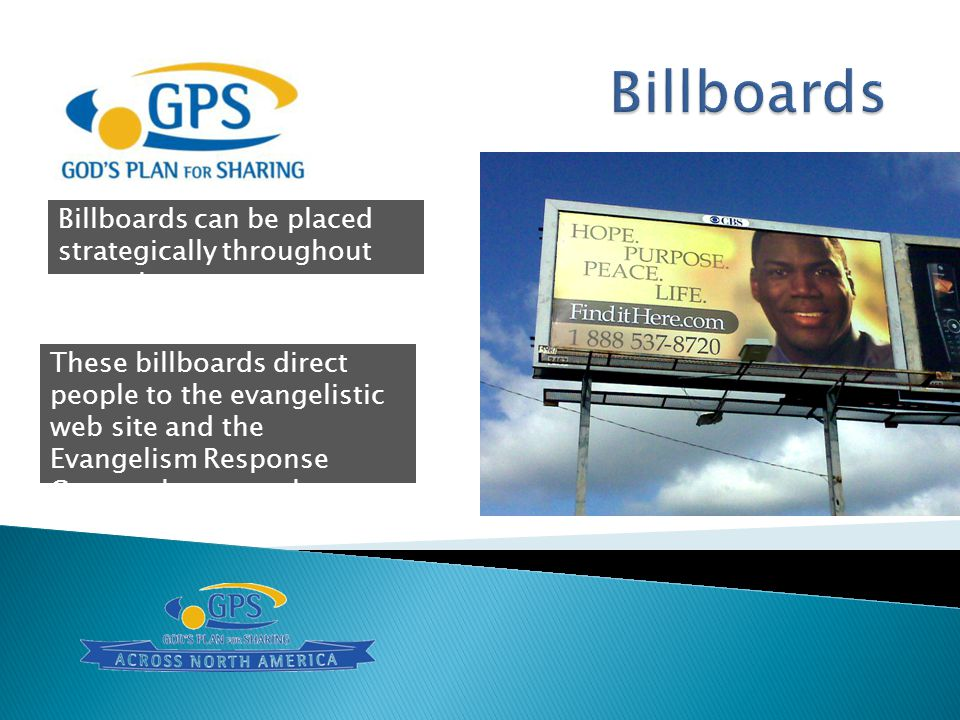 Billboards Billboards can be placed strategically throughout your city.