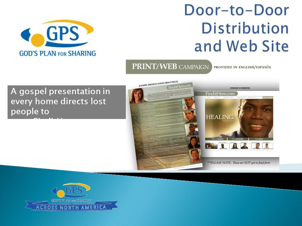 Door-to-Door Distribution and Web Site