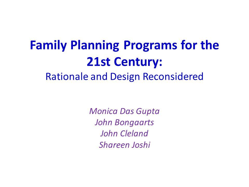 Monica Das Gupta John Bongaarts John Cleland Shareen Joshi