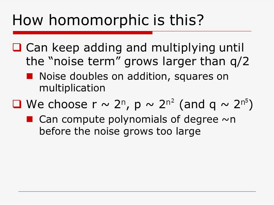 How homomorphic is this