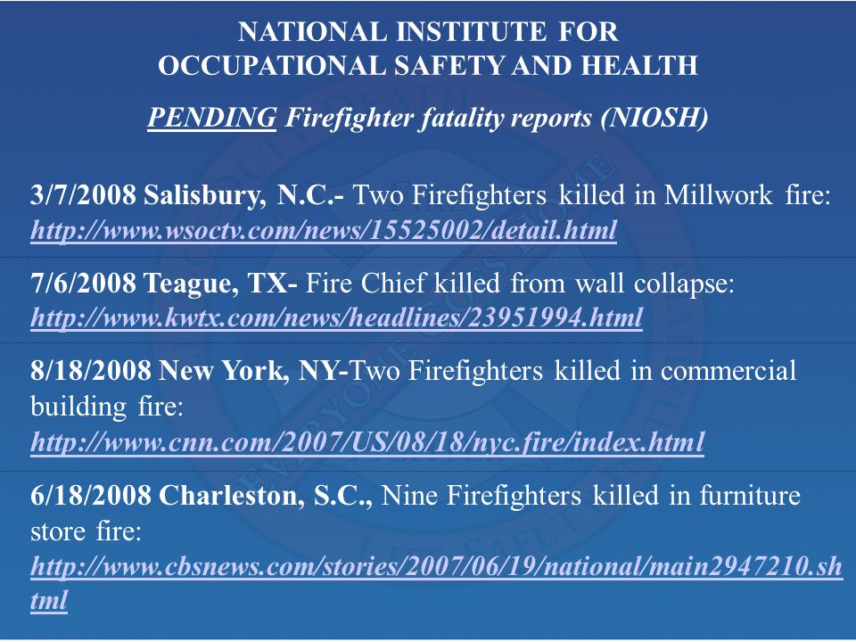7/6/2008 Teague, TX- Fire Chief killed from wall collapse: