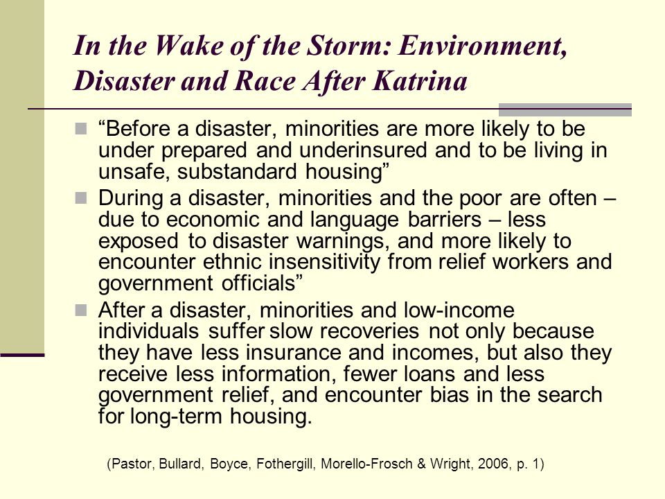 In the Wake of the Storm: Environment, Disaster and Race After Katrina