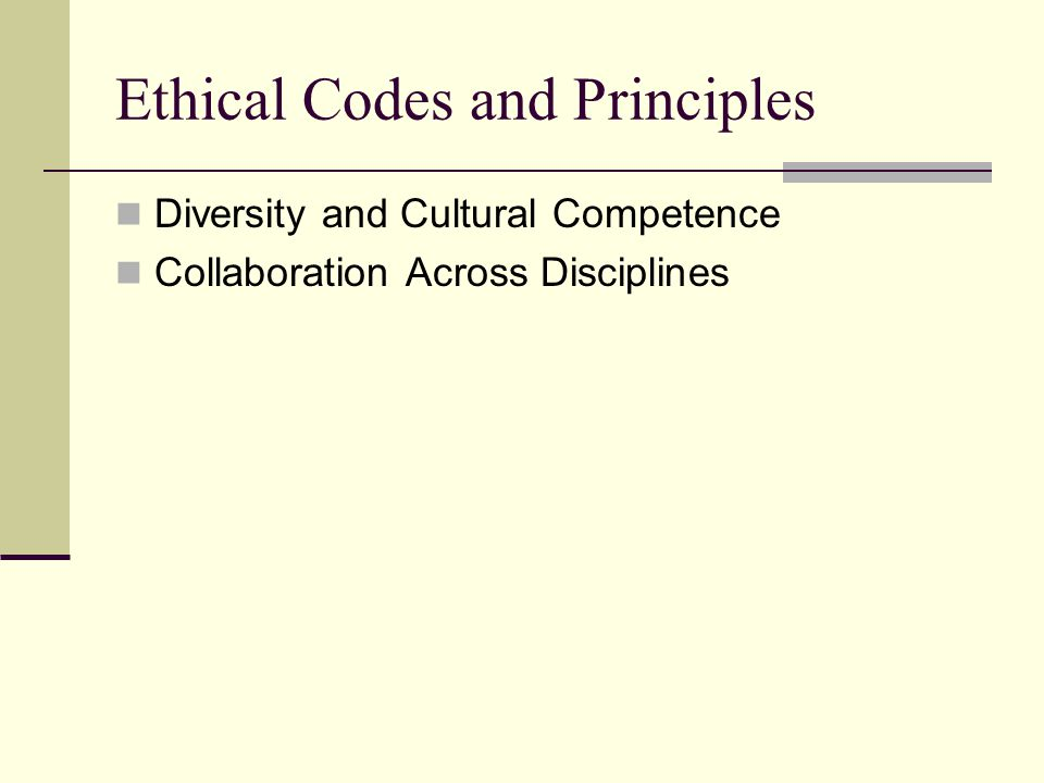 Ethical Codes and Principles