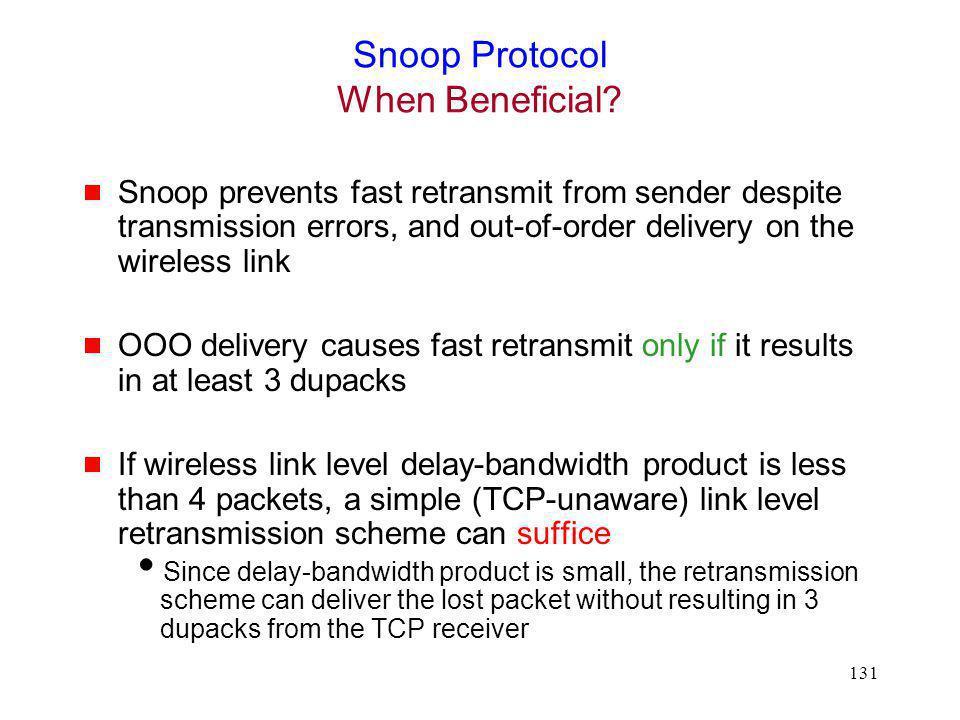 Snoop Protocol When Beneficial