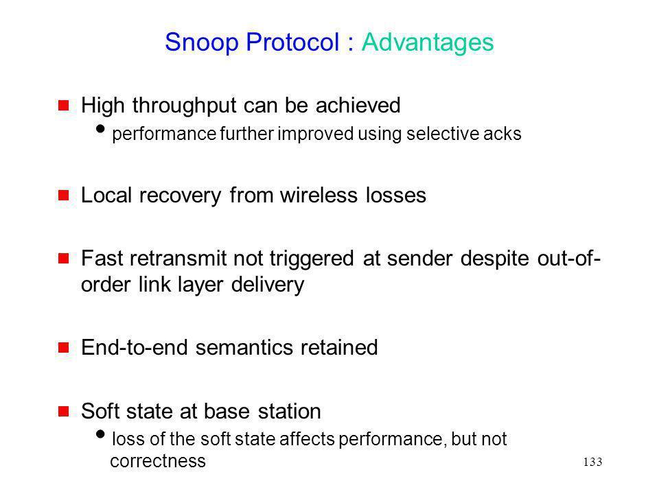 Snoop Protocol : Advantages