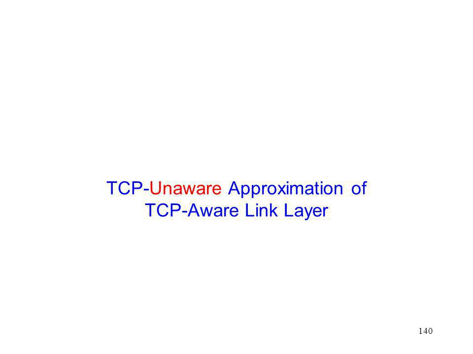 TCP-Unaware Approximation of TCP-Aware Link Layer