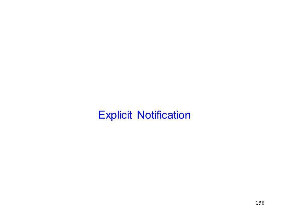 Explicit Notification