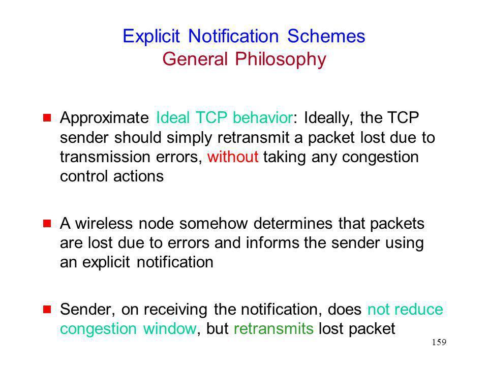 Explicit Notification Schemes General Philosophy