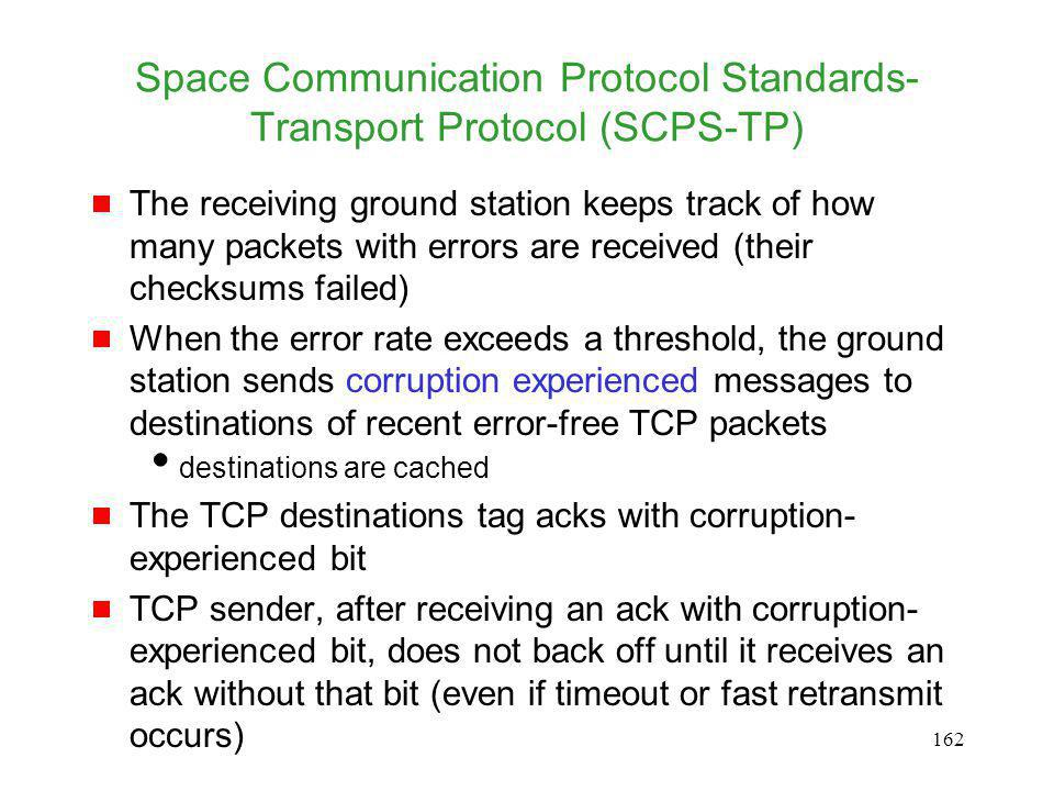 Space Communication Protocol Standards-Transport Protocol (SCPS-TP)
