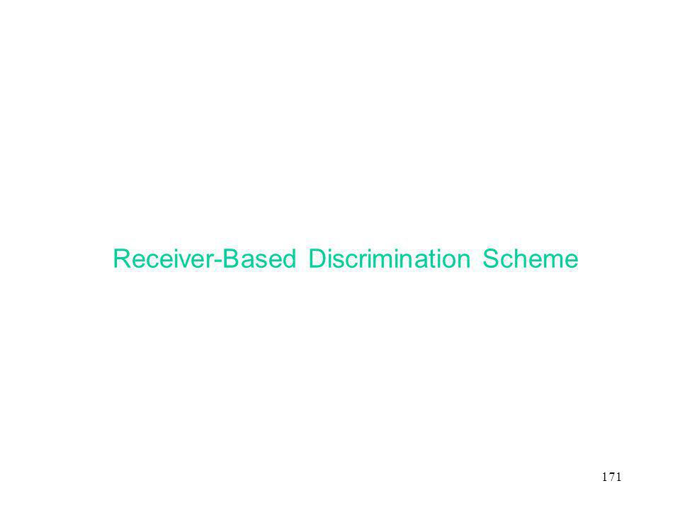 Receiver-Based Discrimination Scheme