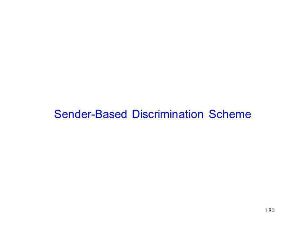 Sender-Based Discrimination Scheme
