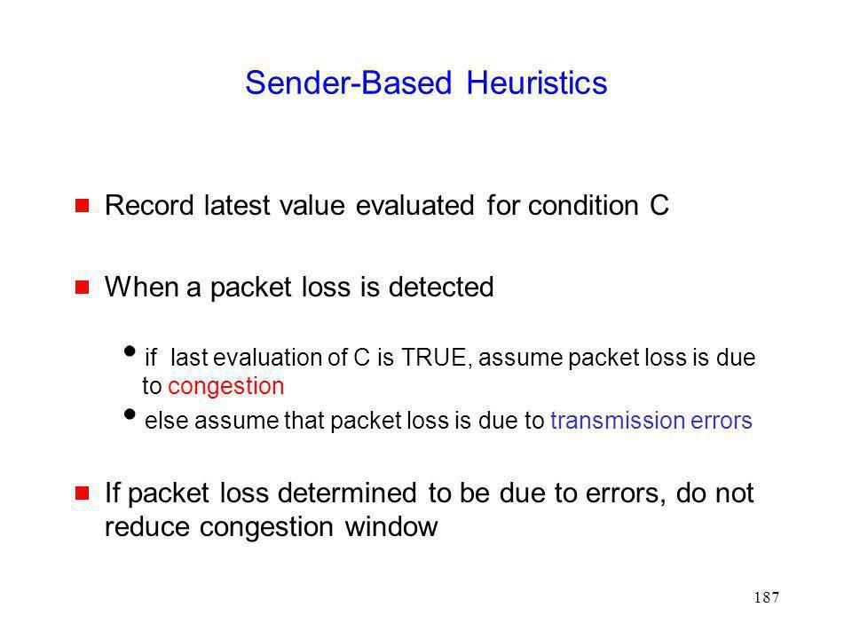 Sender-Based Heuristics