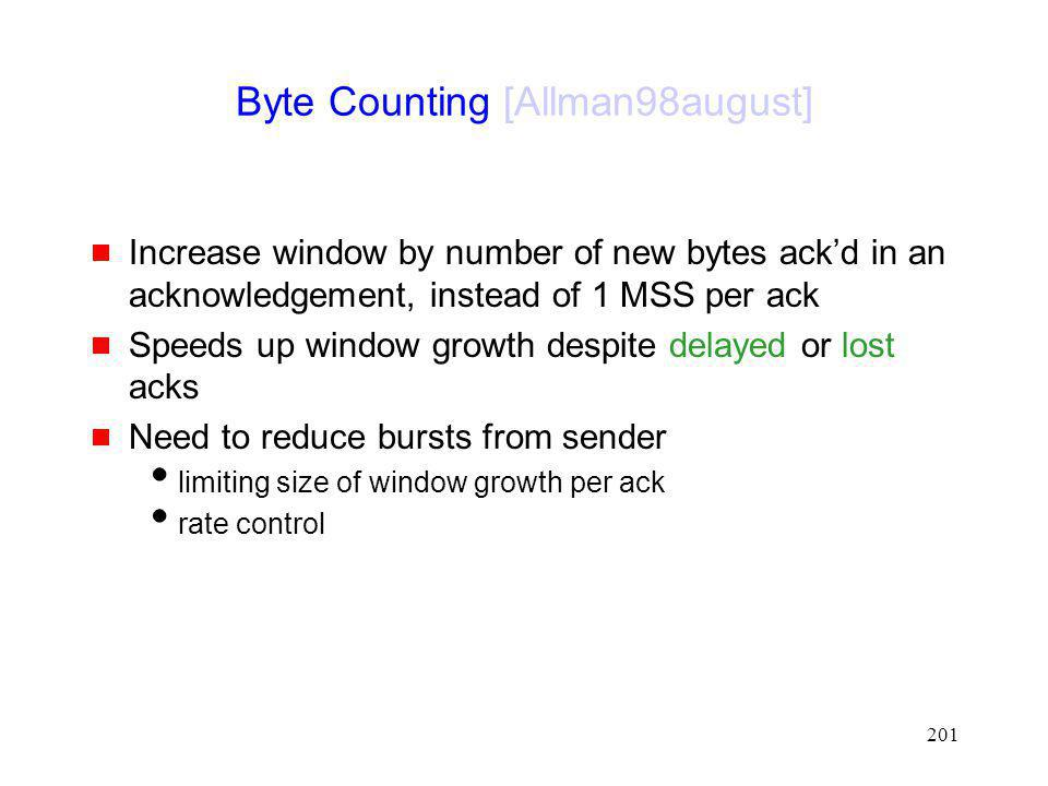 Byte Counting [Allman98august]