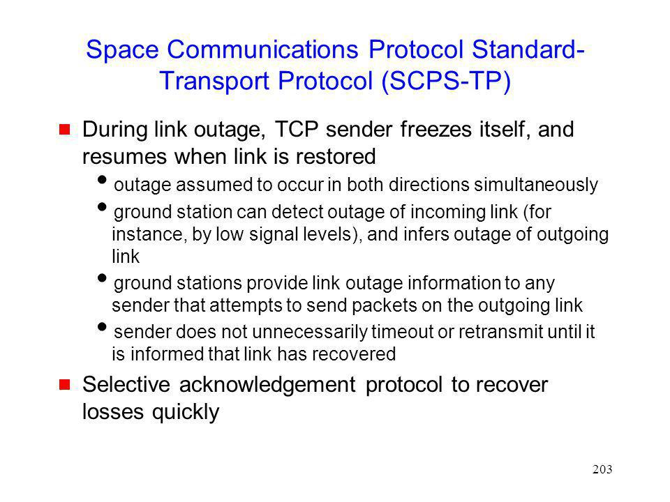 Space Communications Protocol Standard-Transport Protocol (SCPS-TP)