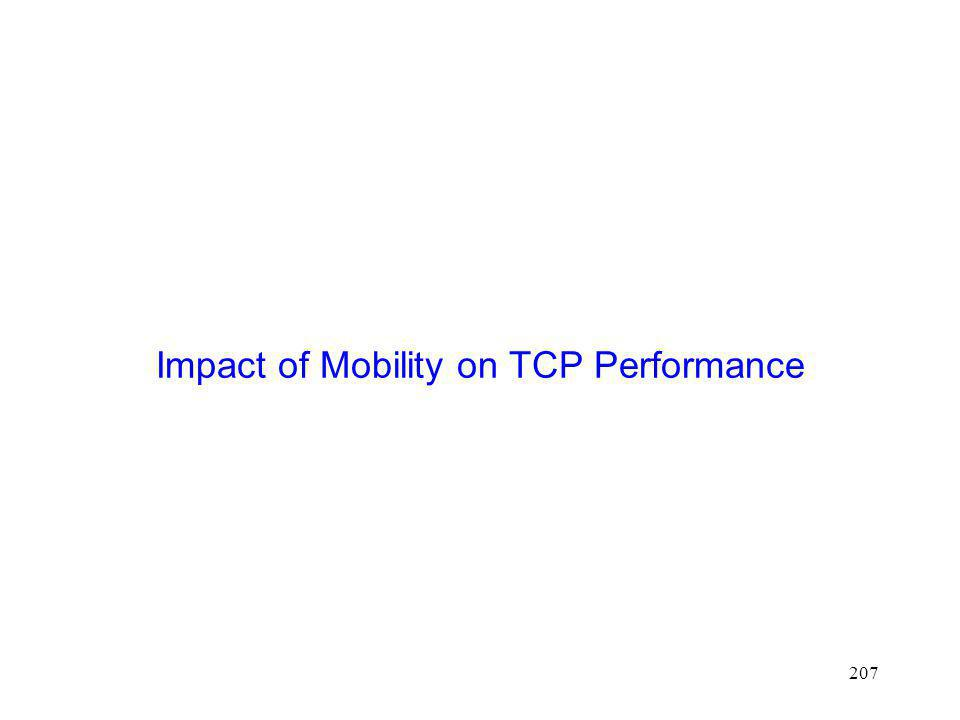 Impact of Mobility on TCP Performance