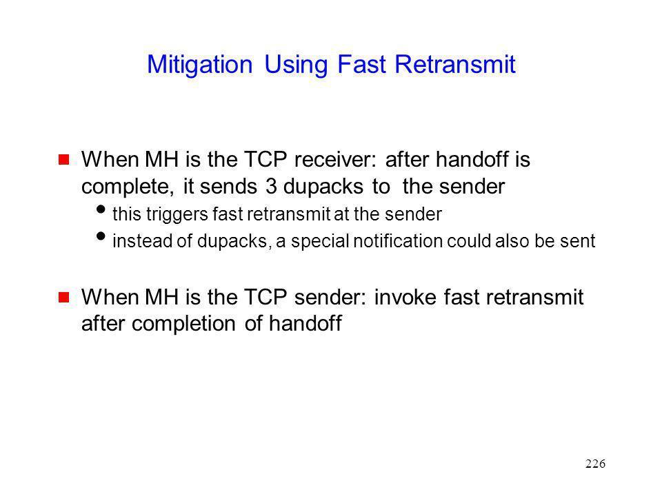 Mitigation Using Fast Retransmit