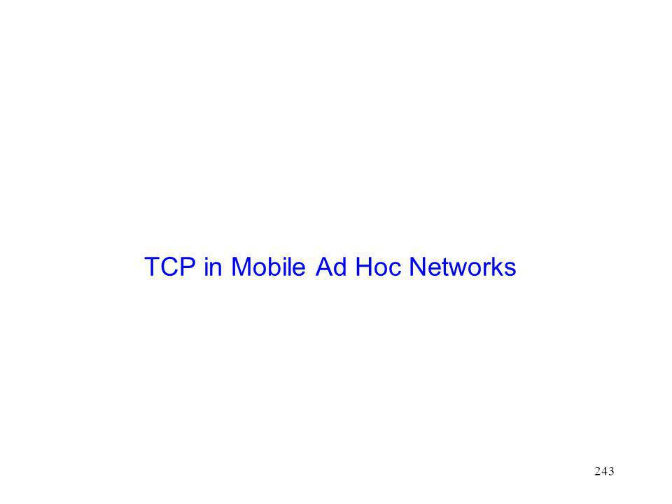TCP in Mobile Ad Hoc Networks