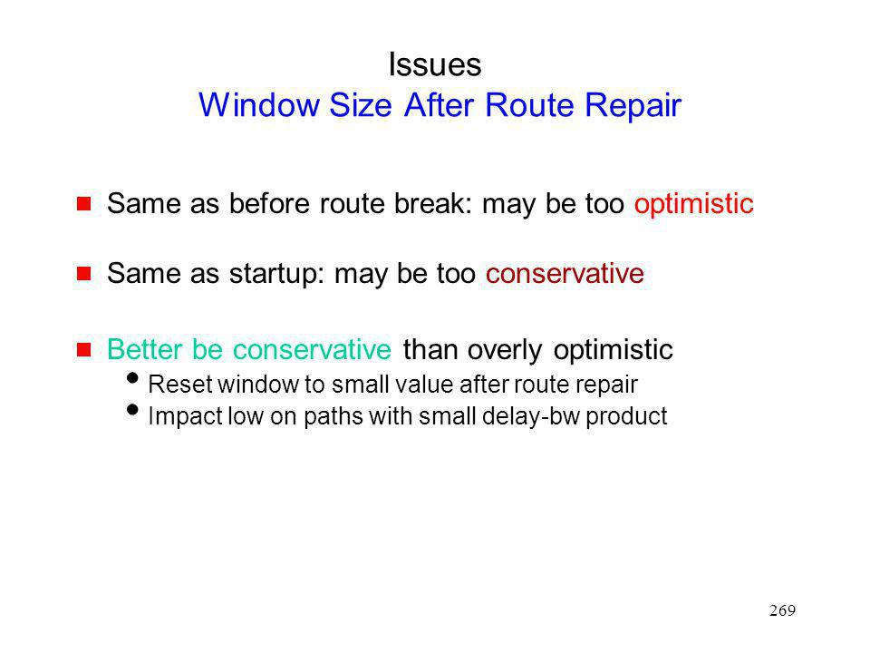 Issues Window Size After Route Repair