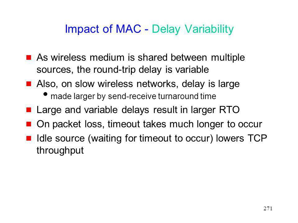 Impact of MAC - Delay Variability