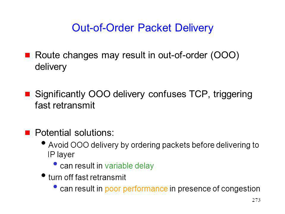Out-of-Order Packet Delivery