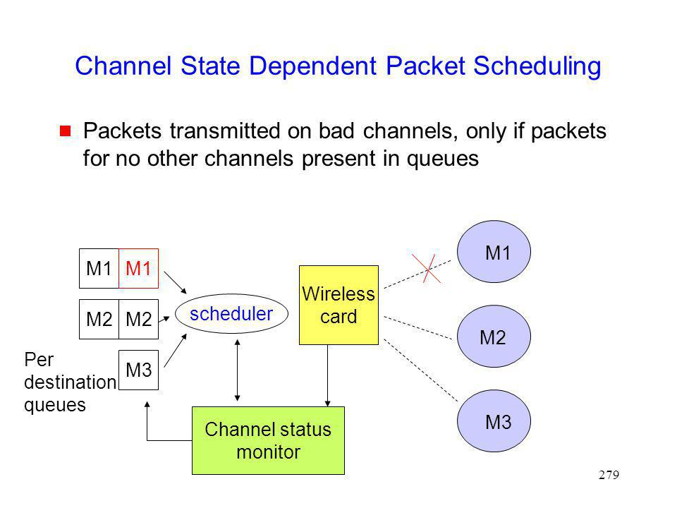 Channel State Dependent Packet Scheduling