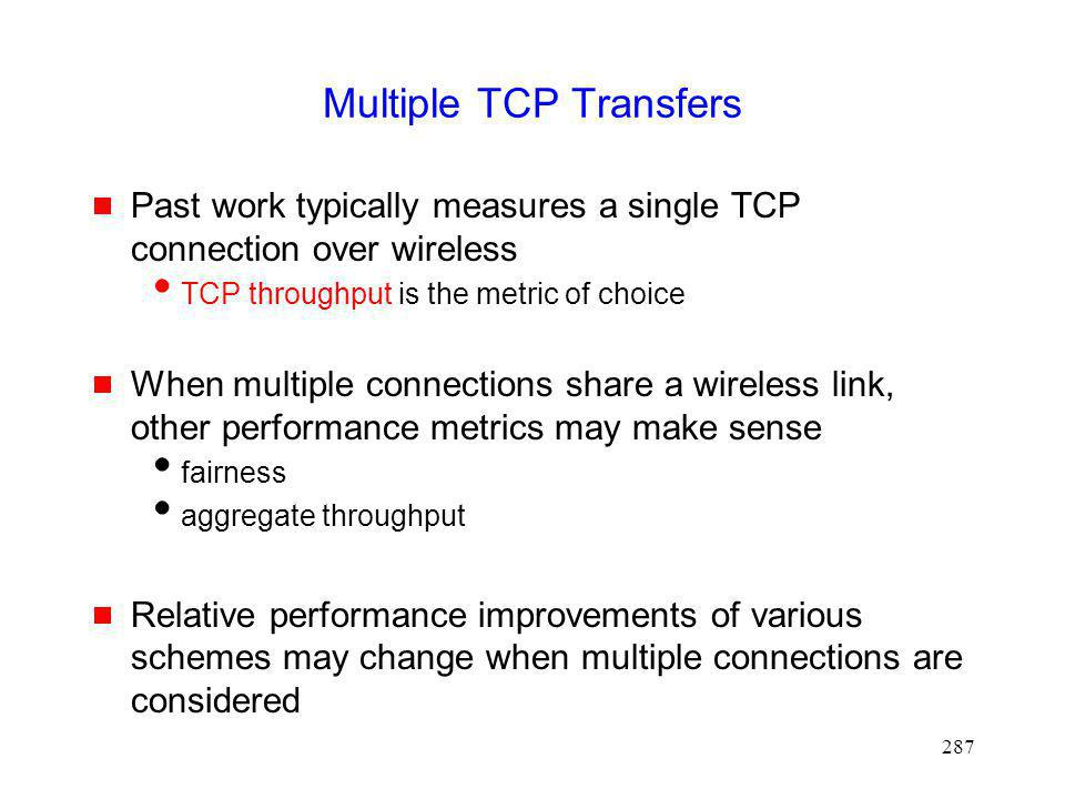Multiple TCP Transfers