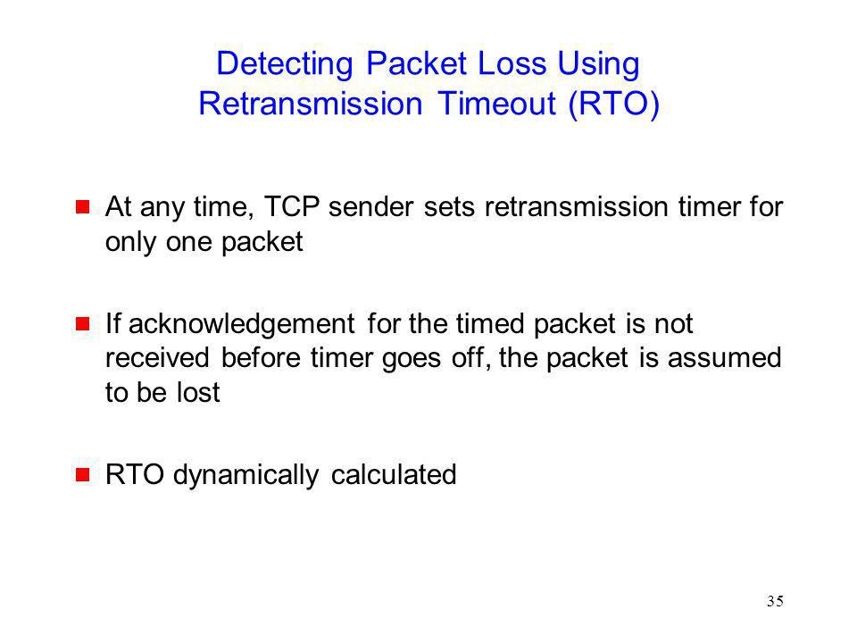 Detecting Packet Loss Using Retransmission Timeout (RTO)