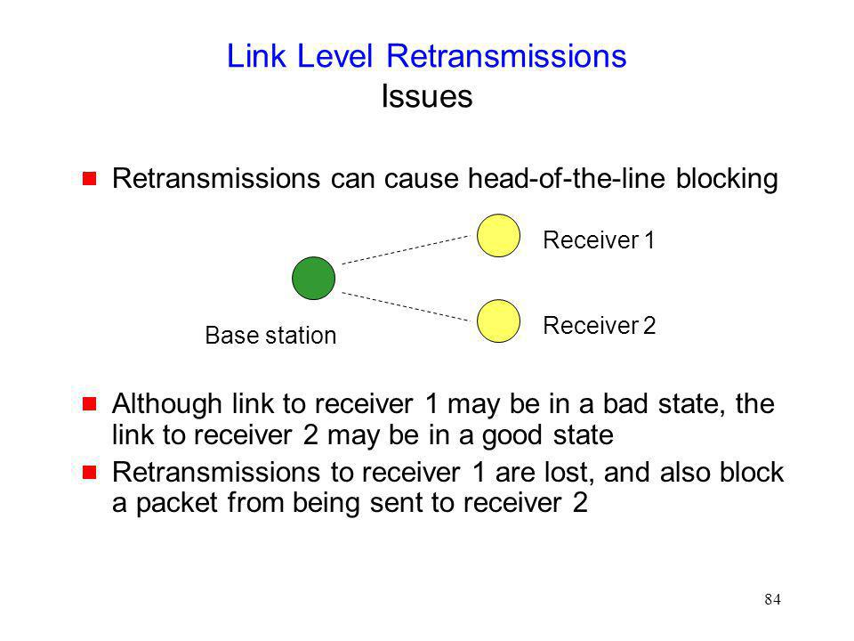 Link Level Retransmissions Issues