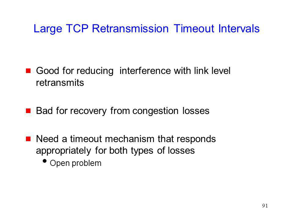Large TCP Retransmission Timeout Intervals