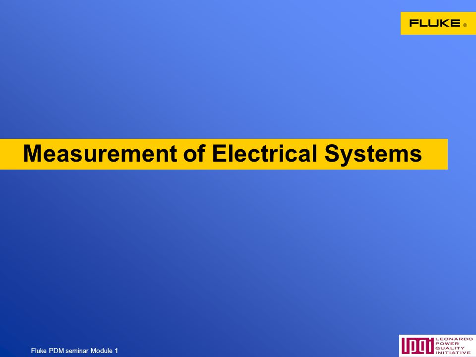 Measurement of Electrical Systems