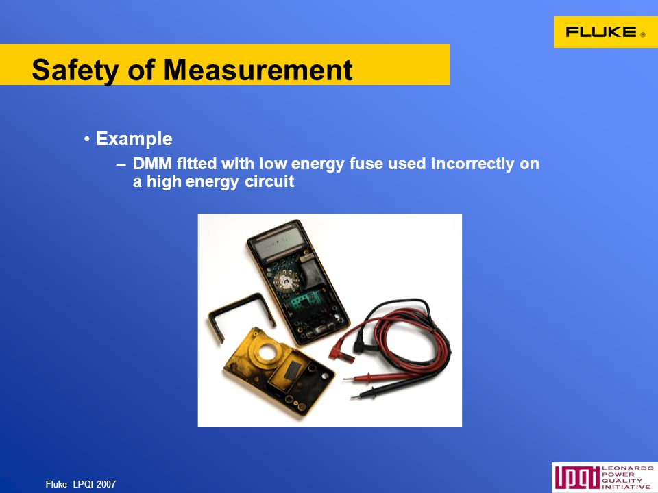 Safety of Measurement Example.