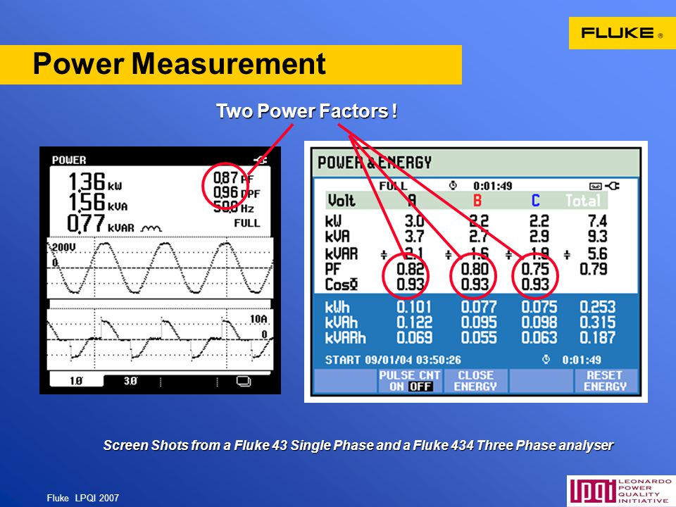 Power Measurement Two Power Factors ! 