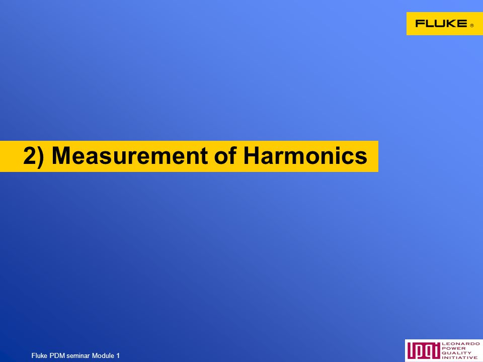 2) Measurement of Harmonics