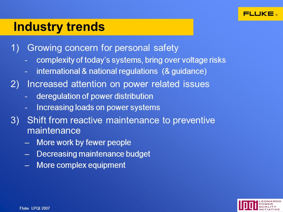 Industry trends Growing concern for personal safety