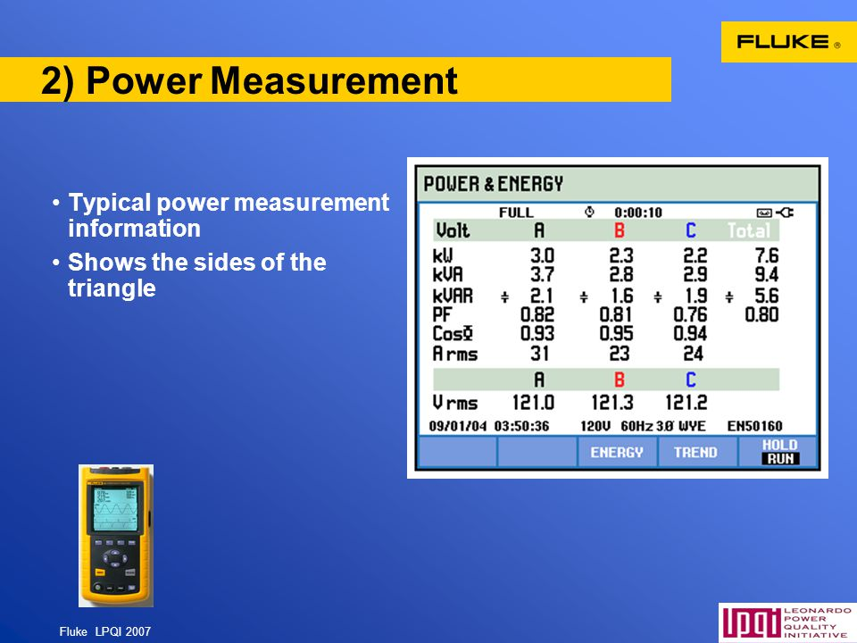 2) Power Measurement Typical power measurement information