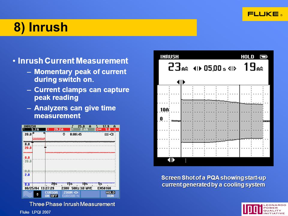 Three Phase Inrush Measurement