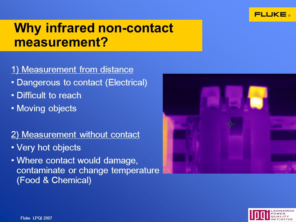 Why infrared non-contact measurement