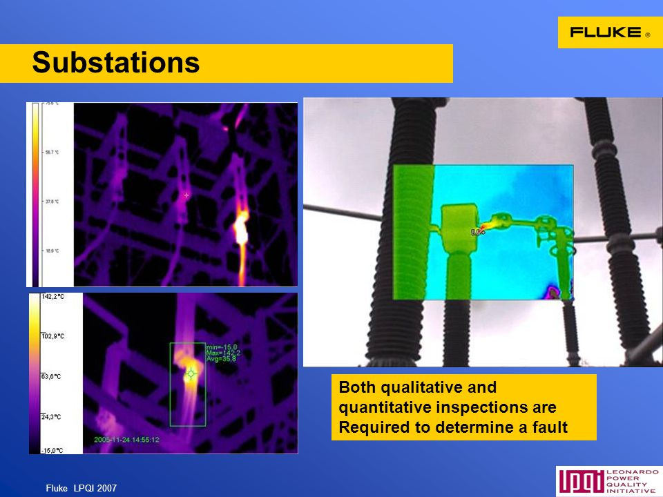 Substations Both qualitative and quantitative inspections are Required to determine a fault