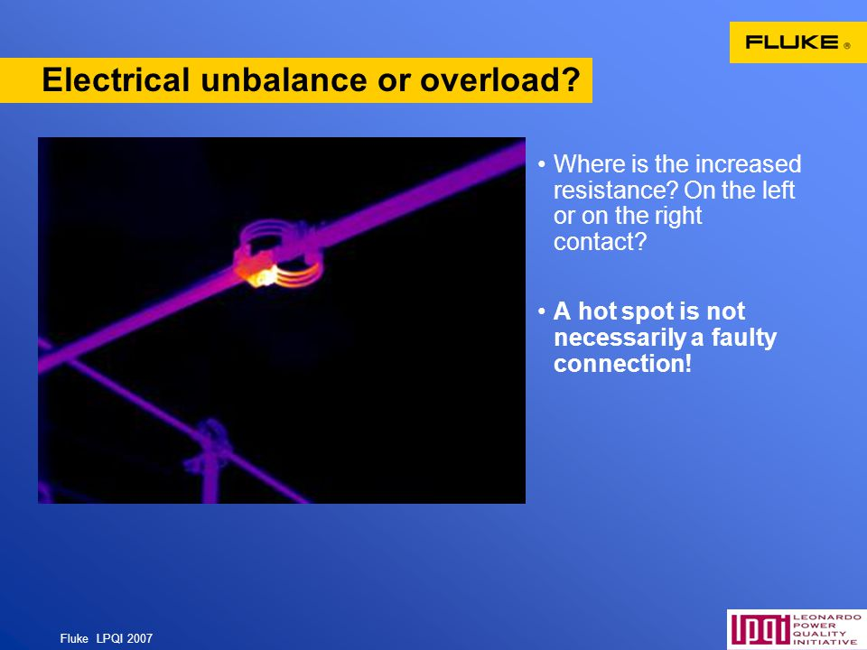 Electrical unbalance or overload