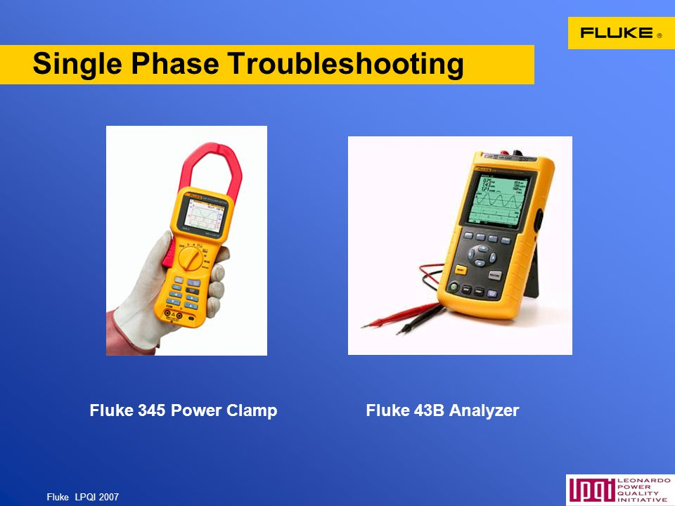 Single Phase Troubleshooting
