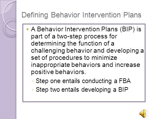 Developing Behavior Intervention Plans For Students With Asd  Ppt